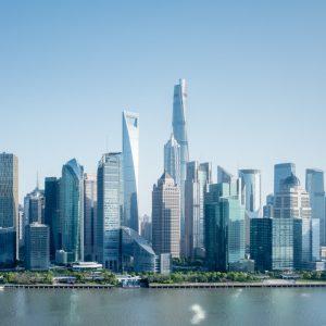 modern financial building on huangpu riverside, the magic city in China